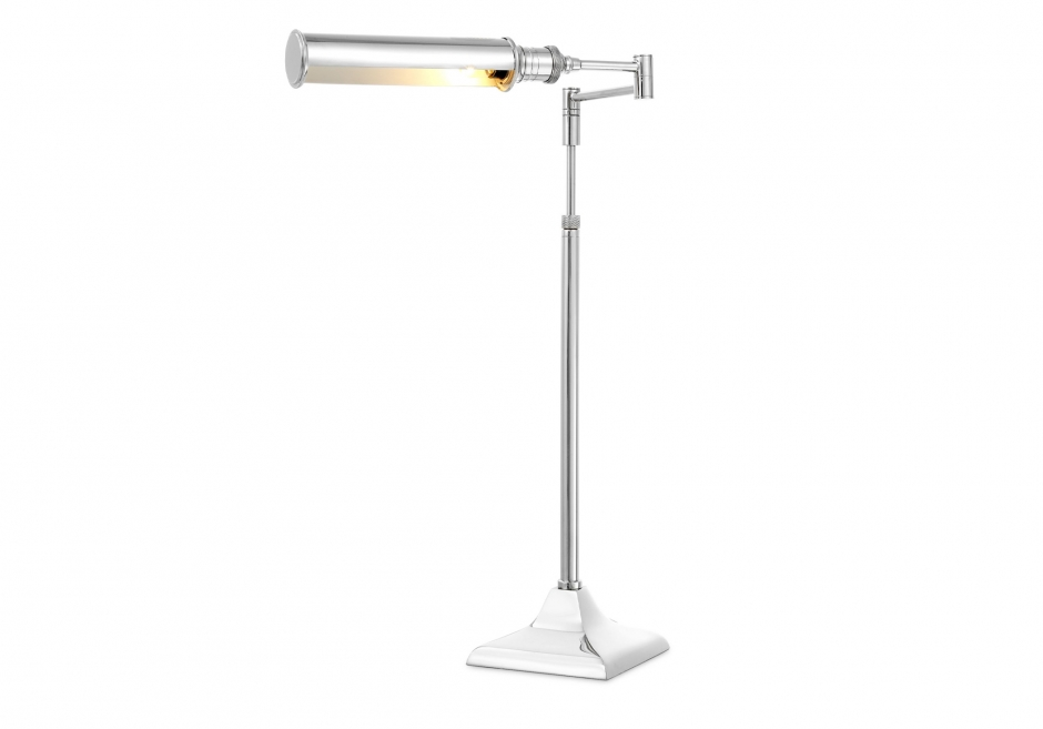 Nachttischlampe Kingston Silber
