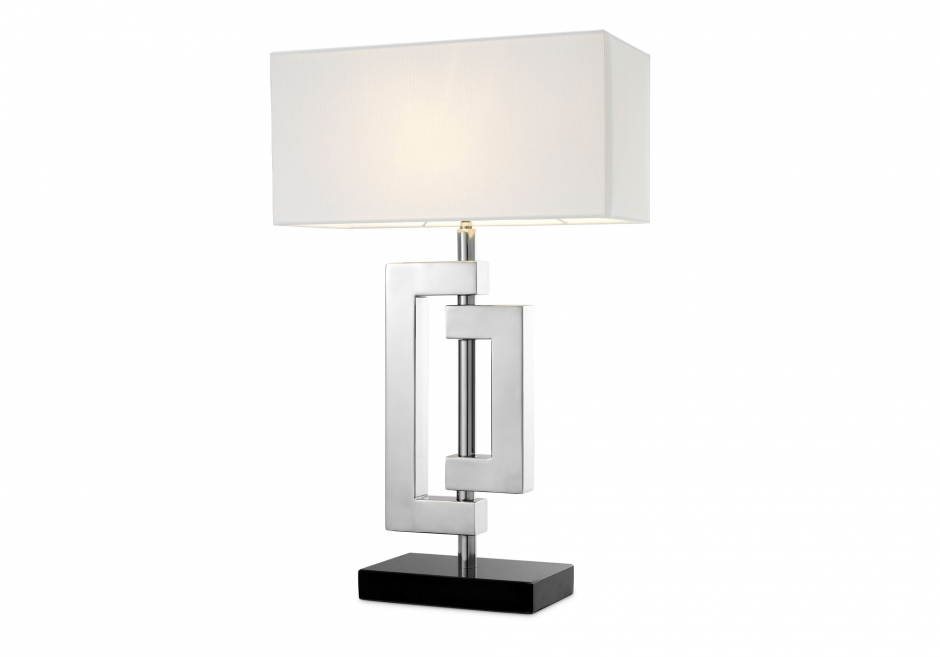 Nachttischlampe Leroux Silber
