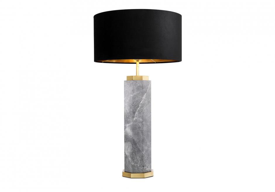 Nachttischlampe Newman Grau