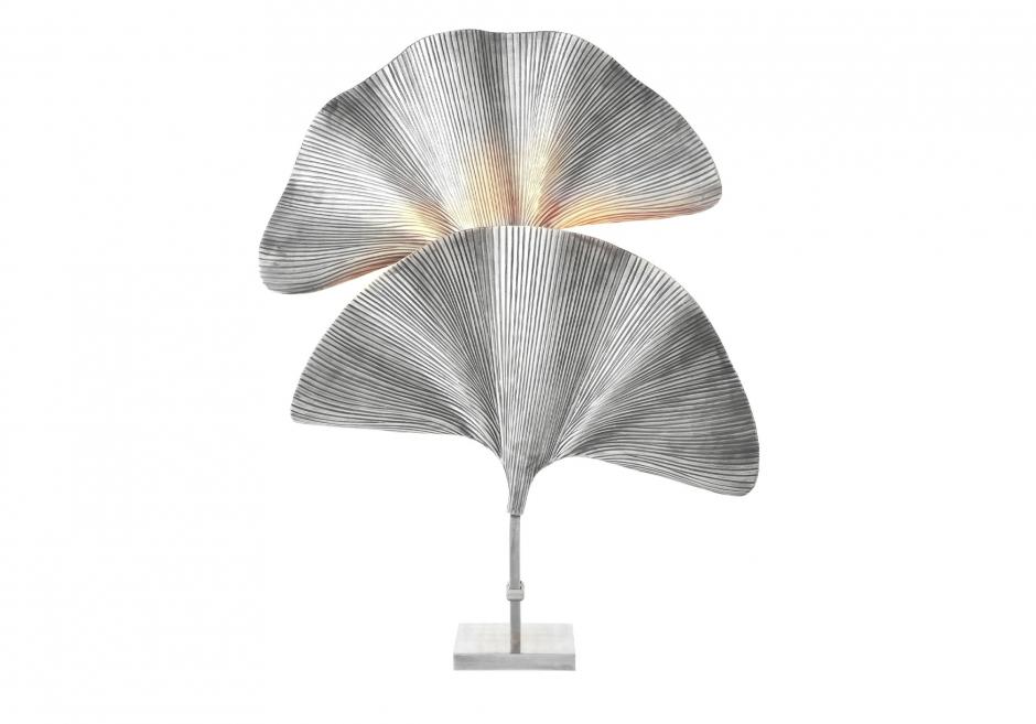 Nachttischlampe Palmas Silber