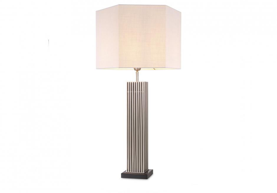 Nachttischlampe Viggo Silber