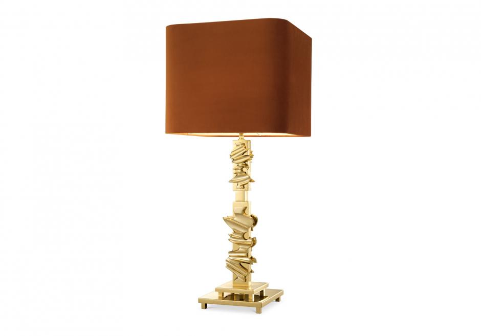 Nachttischlampe Abruzzo Gold