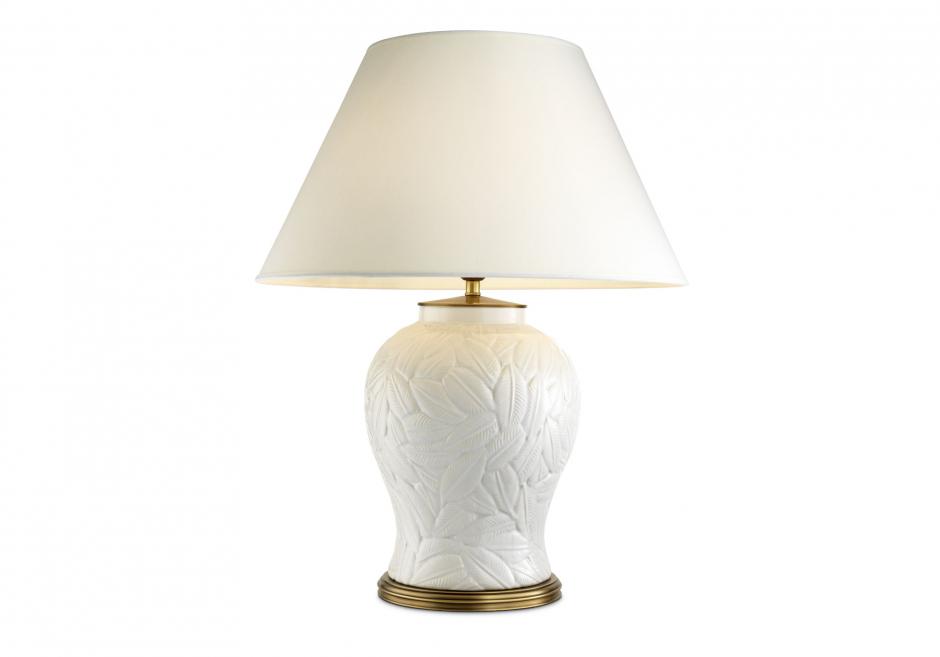 Nachttischlampe Cyprus Weiß