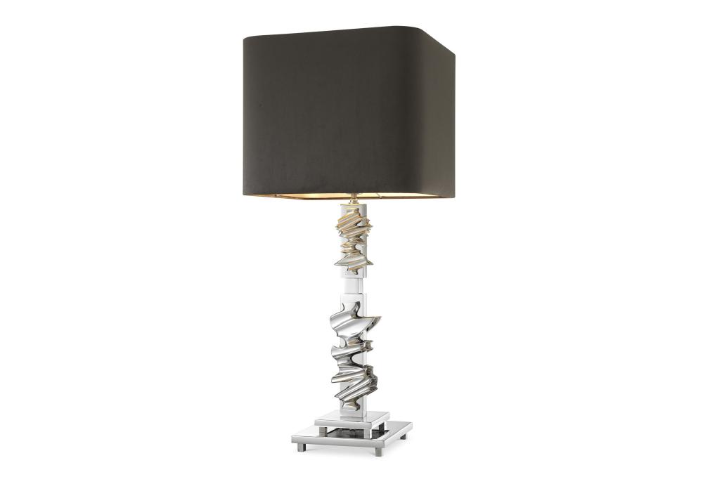 Nachttischlampe Abruzzo Silber