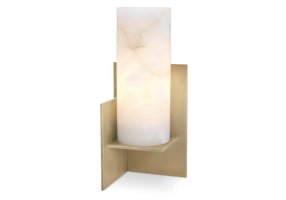 Nachttischlampe Frisco Messing