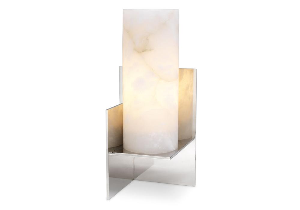 Nachttischlampe Frisco Silber