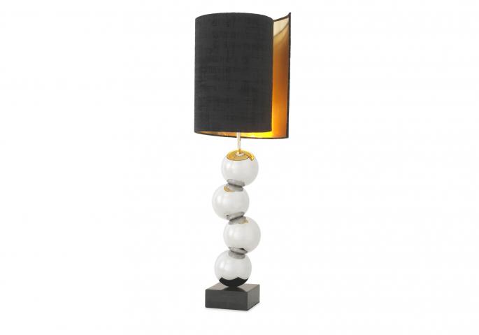 Nachttischlampe Aerion Silber