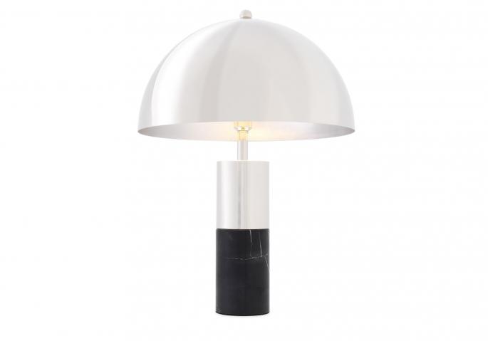 Nachttischlampe Flair Silber