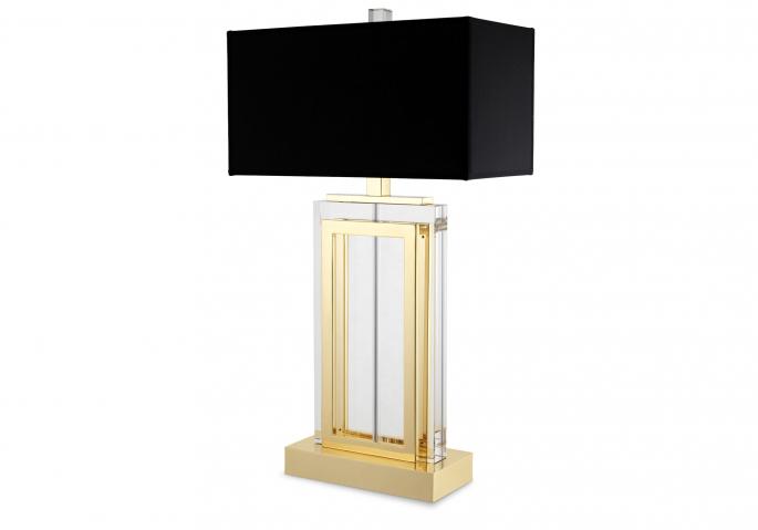 Nachttischlampe Arlington Kristall Gold Schwarz