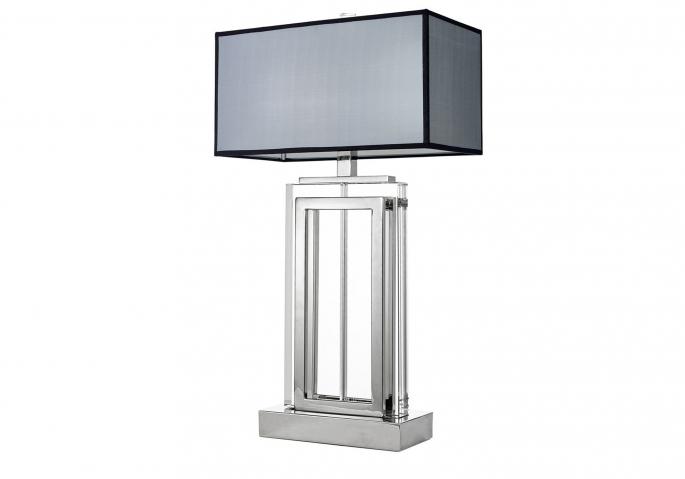 Nachttischlampe Arlington Kristall Silber Grau