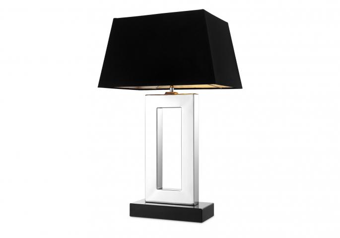 Nachttischlampe Arlington Silber