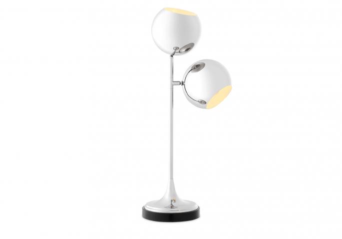 Nachttischlampe Compton Silber