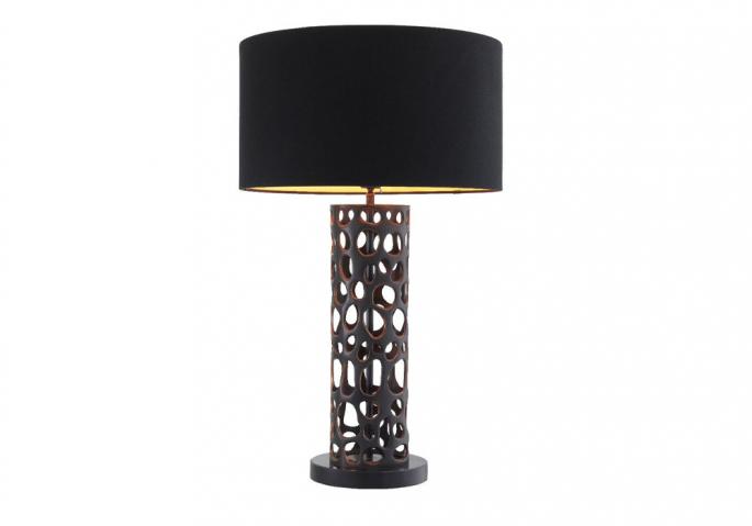 Nachttischlampe Dix Bronze