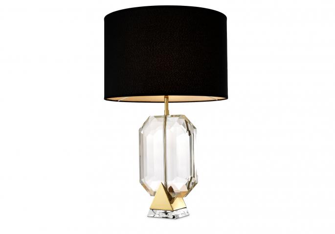 Nachttischlampe Emerald Gold Schwarz