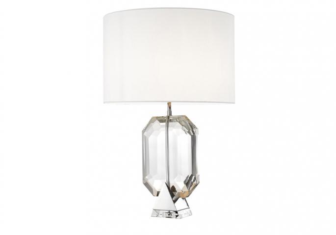 Nachttischlampe Emerald Silber Weiß